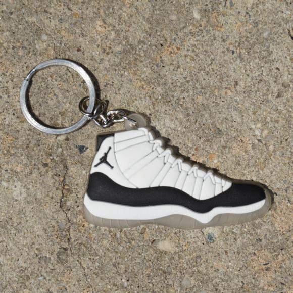 55b0790de60cc0 Nike Jordan Retro 11 Concord Black Shoe Keychain. M 5b3d2fc0534ef9282ad57667